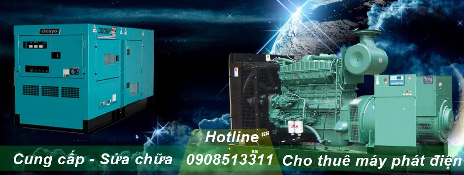 cho thuê máy phát điện uy tín giá rẻ tại tphcm